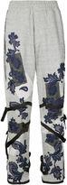 James Long lace appliqué buckled track pants
