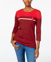 Karen Scott Striped Pocket Top, Only at Macy's