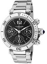 Cartier Men's Pasha Seatimer Automatic Chronograph Black Dial Stainless Steel