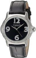 Stuhrling Original Women's 592.02 Vogue Analog Display Quartz Black Watch