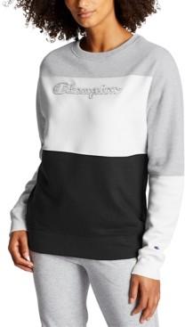 Champion Women's Powerblend Colorblocked Sweatshirt