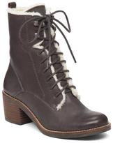 Lucky Brand Cambreen Lace-Up Leather Boot with Shearling