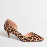J.Crew Factory Calf hair d'Orsay kitten heels