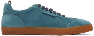 Giorgio Armani Blue Suede Bowling Sneakers