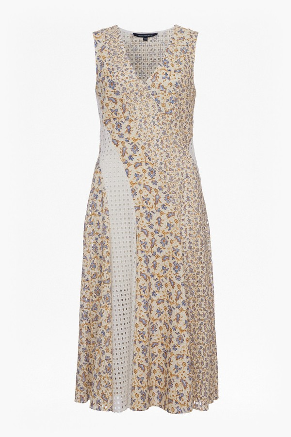 French Connection Niko Broderie Printed Cotton Dress