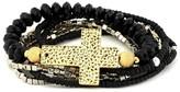 Belle Noel by Kim Kardashian Beaded Cross and Beaded Bracelet Set
