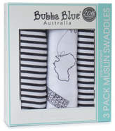 Bubba Blue Bubba Blue Small World Muslin Wraps 3 Pack