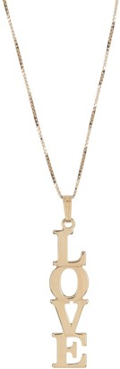 Melanie Marie Gold Plated Linear Word Pendant Necklace