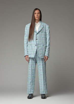 Thom Browne Frayed Edge Seersucker Tweed Patch Pocket Sportcoat