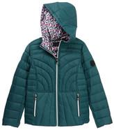Bernardo Ultra Light Down Reversible Hooded Jacket (Big Girls)