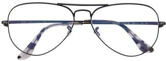 Ray-Ban Tortoiseshell-Tip Aviator Glasses