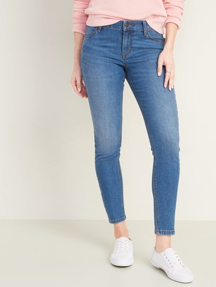 Old Navy Mid-Rise Medium-Wash Super Skinny Ankle Jeans for Women