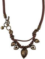 Lanvin Cord & Crystal Necklace