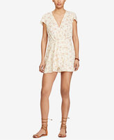 Denim & Supply Ralph Lauren Floral-Print Faux-Wrap Romper
