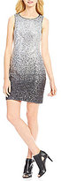 Vince Camuto Ombre Sleeveless Sequin Sheath Dress
