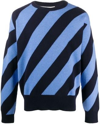 Marni Diagonal Stripe Knit Jumper