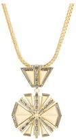 Vince Camuto - Golden Edge Star Pendant Necklace (Gold/Cream) - Jewelry