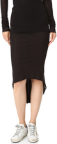 Rick Owens Lilies Back Pleat Skirt