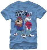 Looney Tunes Kickin' It Old School Bugs Bunny Taz Men's T-Shirt (XX-Large)