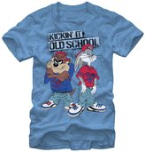 Looney Tunes Kickin' It Old School Bugs Bunny Taz Men's T-Shirt