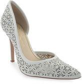 Jessica Simpson Claudette Floral Laser-Cut Leather D Orsay Pumps
