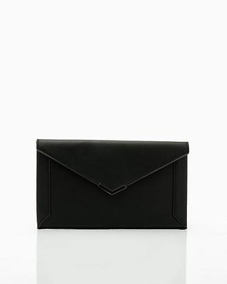 Le Château Faux Leather Flapover Envelope Clutch