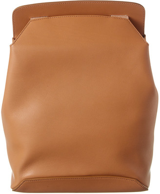 The Row Moulded Leather Backpack