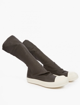 Rick Owens Grey Stretch Sneakers