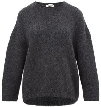 Vika Gazinskaya Oversized Boucle Sweater - Womens - Dark Grey