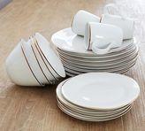 Pottery Barn Gigi Gold Rim 16- Piece Dinnerware Set
