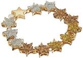 Betsey Johnson Gold Star Glitter Flex Bracelet