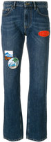 Kenzo patchwork straight-leg jeans