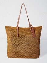 White Stuff Tribal raffia bag