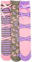 LittleMissMatched Pink & Purple Ballerina Knee High Socks Set
