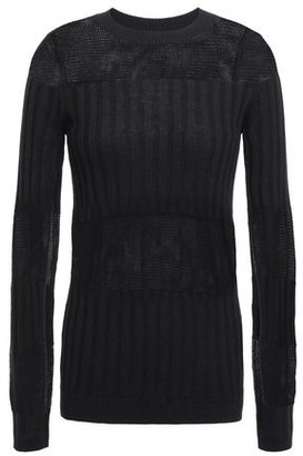 J Brand Athena Knitted Cashmere And Silk-blend Top