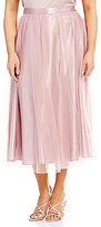 Alex Evenings Plus Chiffon Tea-Length Skirt