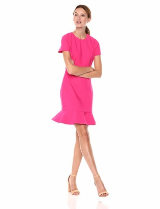 LIKELY Women's Beckett Short Sleeve Ruffle Dress