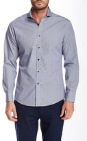 Vince Camuto Long Sleeve Dobby Gingham Slim Fit Shirt