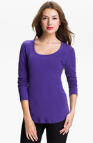 Caslon Shirttail Scoop Neck Tee