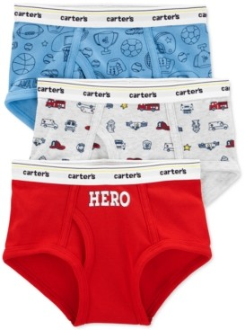 Carter's Boys 3-Pk. Cotton Printed Briefs