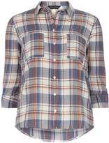 Dorothy Perkins Coral and Blue Check Shirt