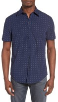 Ben Sherman Men's Mod Fit Diamond Dobby Woven Shirt