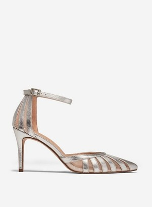 Dorothy Perkins Womens **Showcase Silver 'Emilys' Court Shoes, Silver