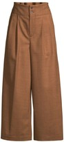 Piazza Sempione Wide-Leg Prince of Wales Trousers