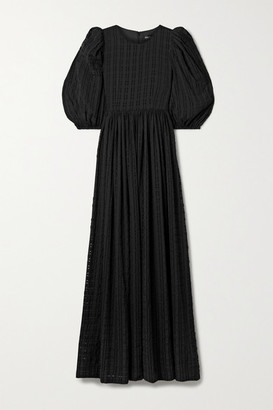 Stine Goya Isa Seersucker Maxi Dress - Black