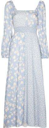 Peony Swimwear Panelled Floral-Print Midi Dress