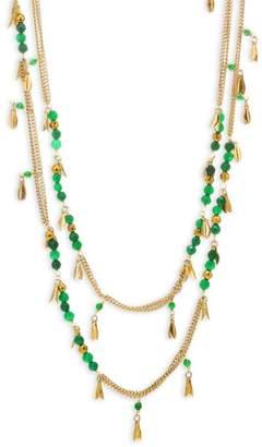 Rosantica Indios Long Multi-Strand Green Beaded Necklace