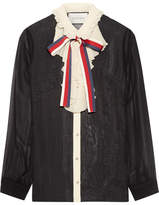 Gucci Ruffle-trimmed Silk-georgette Shirt - IT38
