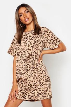 boohoo Animal Leopard Print Shift Dress