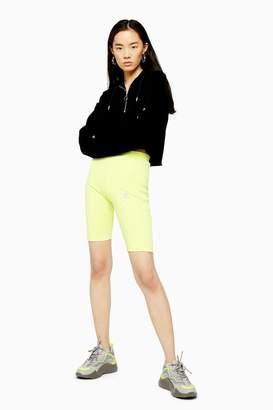 adidas Womens Yellow Cycling Shorts By Yellow